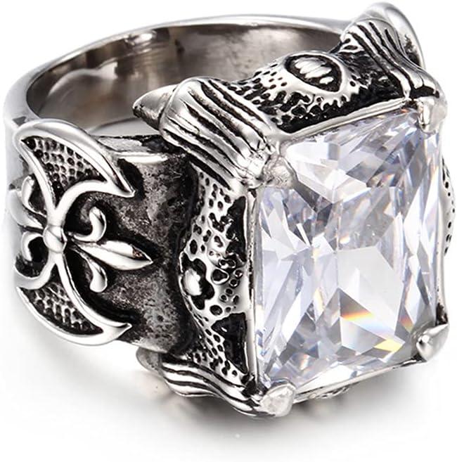 SJJMYM Mosaic Gem Ring Men 316L Jew 25% OFF Titanium Super beauty product restock quality top! Pattern Retro Steel