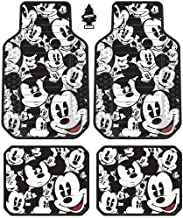 Yupbizauto Set of 4 New Design Disney Mickey Mouse Auto Truck SUV Car Floor Mats with Air Freshener