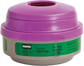Honeywell 7584P100L North N Combination Cartridge/Filter, P100, 0.9997, Polystyrene, Green/Magenta