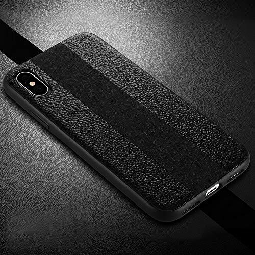 KIOKIOIPO-N Mode Anti-Rutsch-TPU + handgemachte Ledertasche for iPhone XS Max (Color : Black)