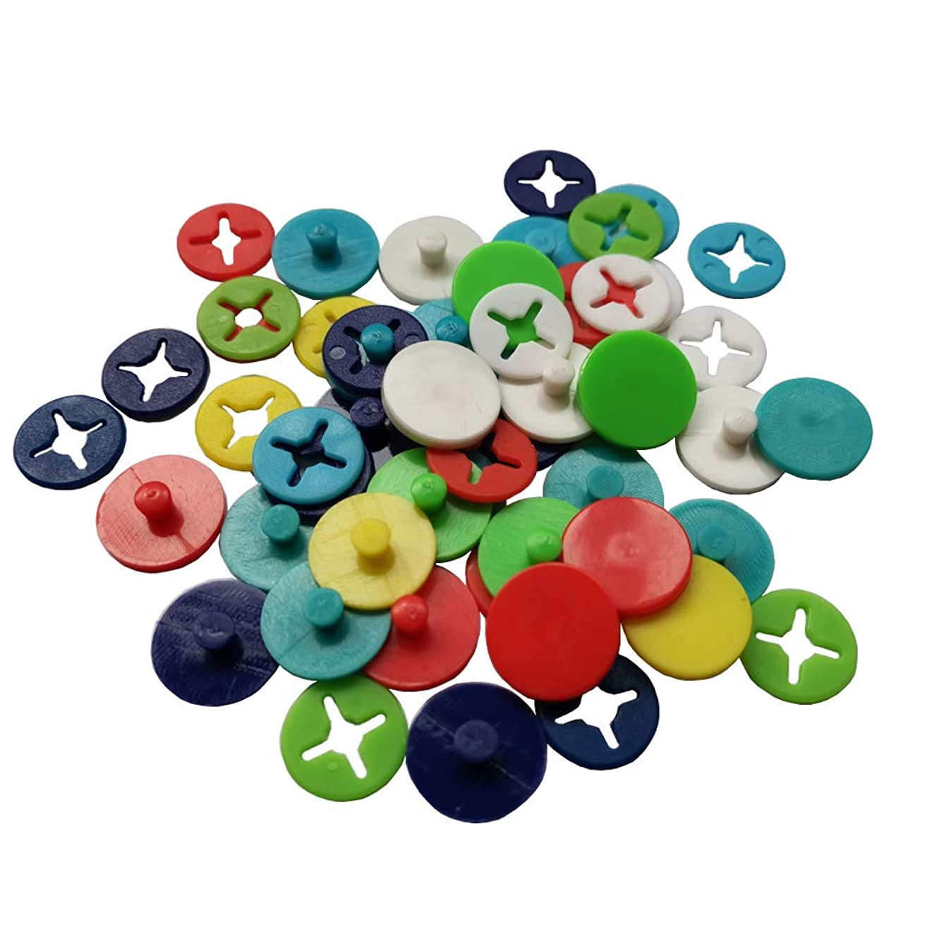 Whale GoGo 32 PCS Race Marathon Number Buckles Fasteners Holders Running Bib Fixing Clips, Mixed Colors