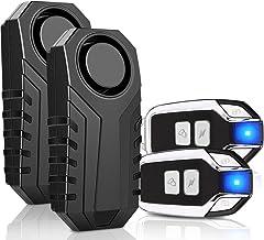 Onvian 2-Pack Upgraded Wireless Anti-Theft Motorcycle Bike Alarm Waterproof Bicycle Security Alarm Vibration Sensor - 113d...