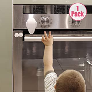 EUDEMON Childproof Oven Door Lock, Oven Front Lock Easy to Install and Use Use 3M Adhesive no Tools Need or Drill (White)