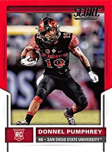 2017 Score Rookies Red Football #335 Donnel Pumphrey San Diego State Aztecs Official NFL Trading Card From Panini
