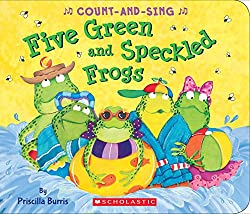 Five Green and Speckled Frogs Book Cover