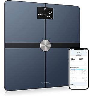 Withings Body+ - Lichaamsanalyse slimme weegschaal met wifi, lichaamsvetmonitor, BMI, spiermassa, vochtpercentage, digitaa...