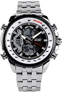 Men's Mechanical Watch Dress Watch Automatic Calendar/Date / Day Chronograph Water Resistant Commerce Watch (Style : A)