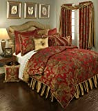 Austin Horn Classics Red Verona Bedding Collection, 4-Piece, King
