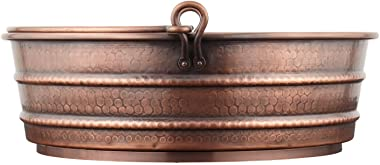 "Signature Hardware 937961 17"" Copper Vessel Bathroom Sink"