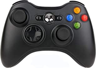 Sollop Wireless Controller Gamepad for Windows & Xbox 360 Built-in Dual Vibration Support PC with 2.4Ghz Wireless Connection Technology (Black1)