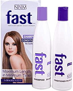 NISIM F.A.S.T Fortified Amino Scalp Therapy Shampoo & Conditioner- Promote Fast and Healthy Hair Growth (10 Ounce /300 Mil...