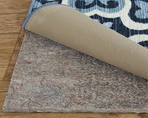"""Mohawk Home Dual Surface Felt and Latex Non Slip Rug Pad, 1/4"""" Thick, 9'x13', Brown"""