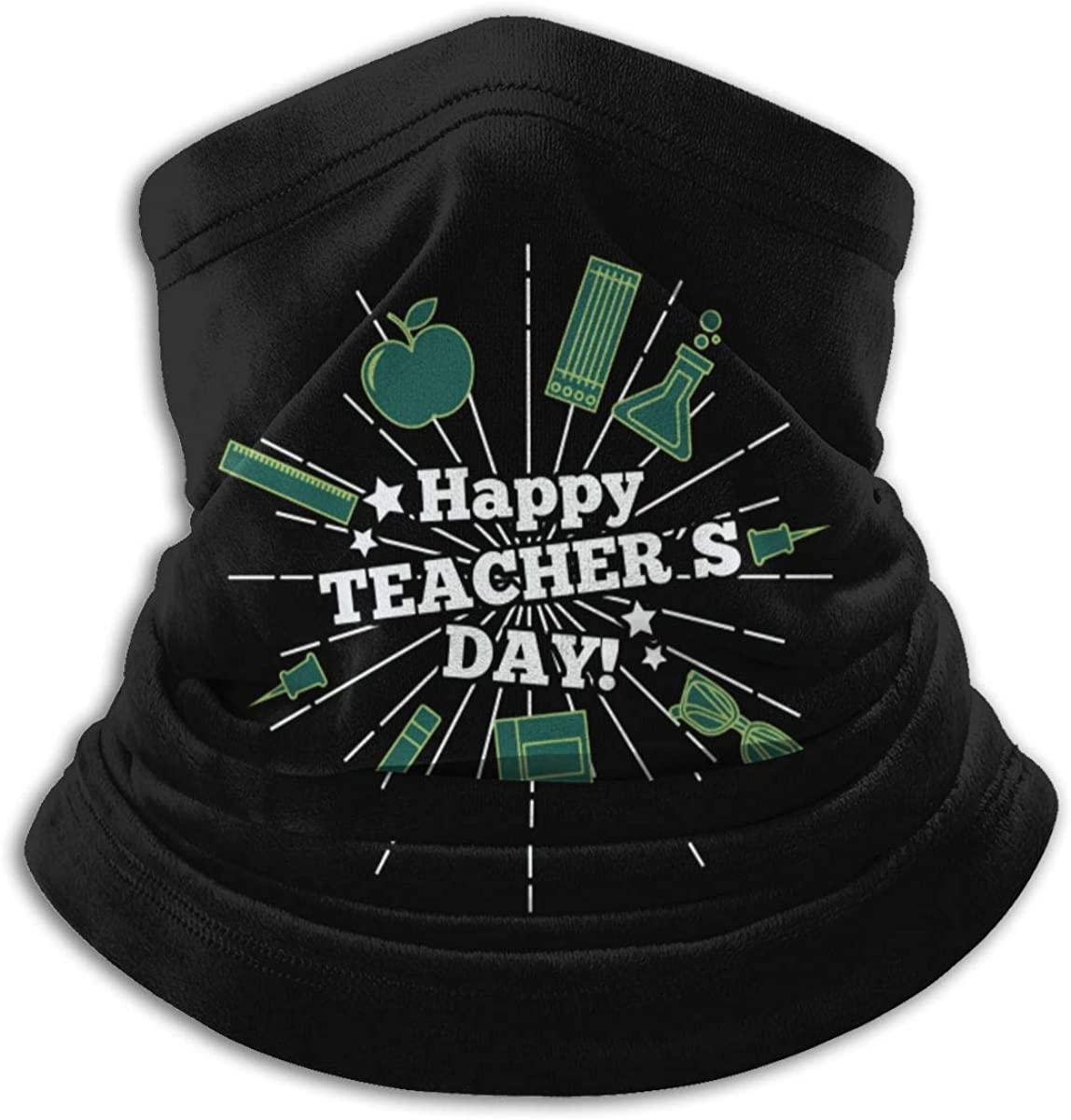 Teachers Day Black Multi-function Neck Warmer Gaiter Polyester Neck Warmer Windproof Winter Neck Gaiter Cold Weather Scarf For Men Women