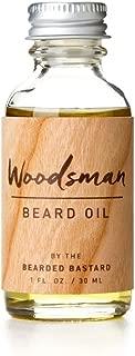 Woodsman Beard Oil |  Cedar Scented Leave In Beard Conditioner Keeps Facial Hair Soft and Moisturizes Skin |  Jojoba. Argan and Sweet Almond Essential Oils 1 Ounce
