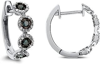 Best blue diamond hoop earrings white gold Reviews