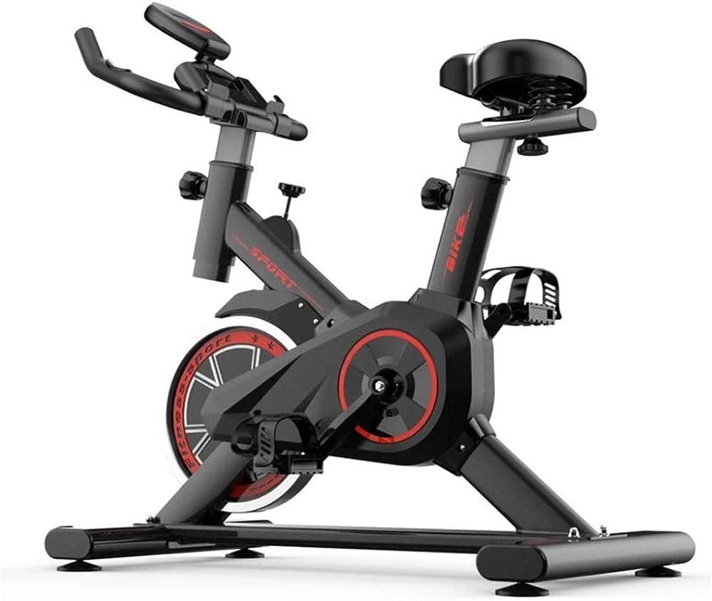 Gtyhjuik cyclette fitness, bici da spinning, monitor lcd