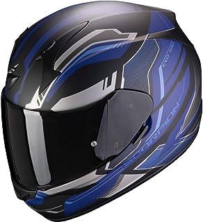 Scorpion Herren NC Motorrad Helm, Schwarz/Blau, L