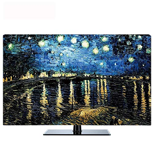 Creative TV Cover, Living Room Thuis TV Monitor Dust Cover, Interior Protection Cover, 32-60in Soft Cover van verschillende afmetingen (Color : Section B, Size : 40in (H100*W59cm))