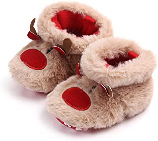 YEAPOOK Cute Baby Christmas Shoes, Anti-Slip Slipper Floor Socks, Toddler Girls Boys Winter Non-Slip Booties