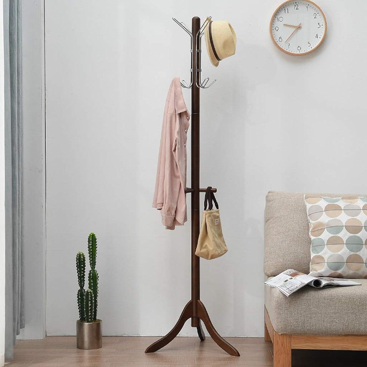 伝統一ミンチJia He コートラック コートラック、床置き家庭用ハンガー寝室リビングルームシングルバー衣類帽子収納ラック、2色ご用意 @@ (Color : B)