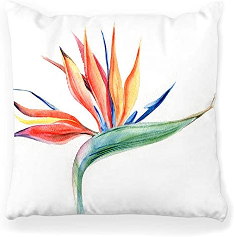 Washable Dog floor tropical Pillow Bed Cotton digital print With Zipper
