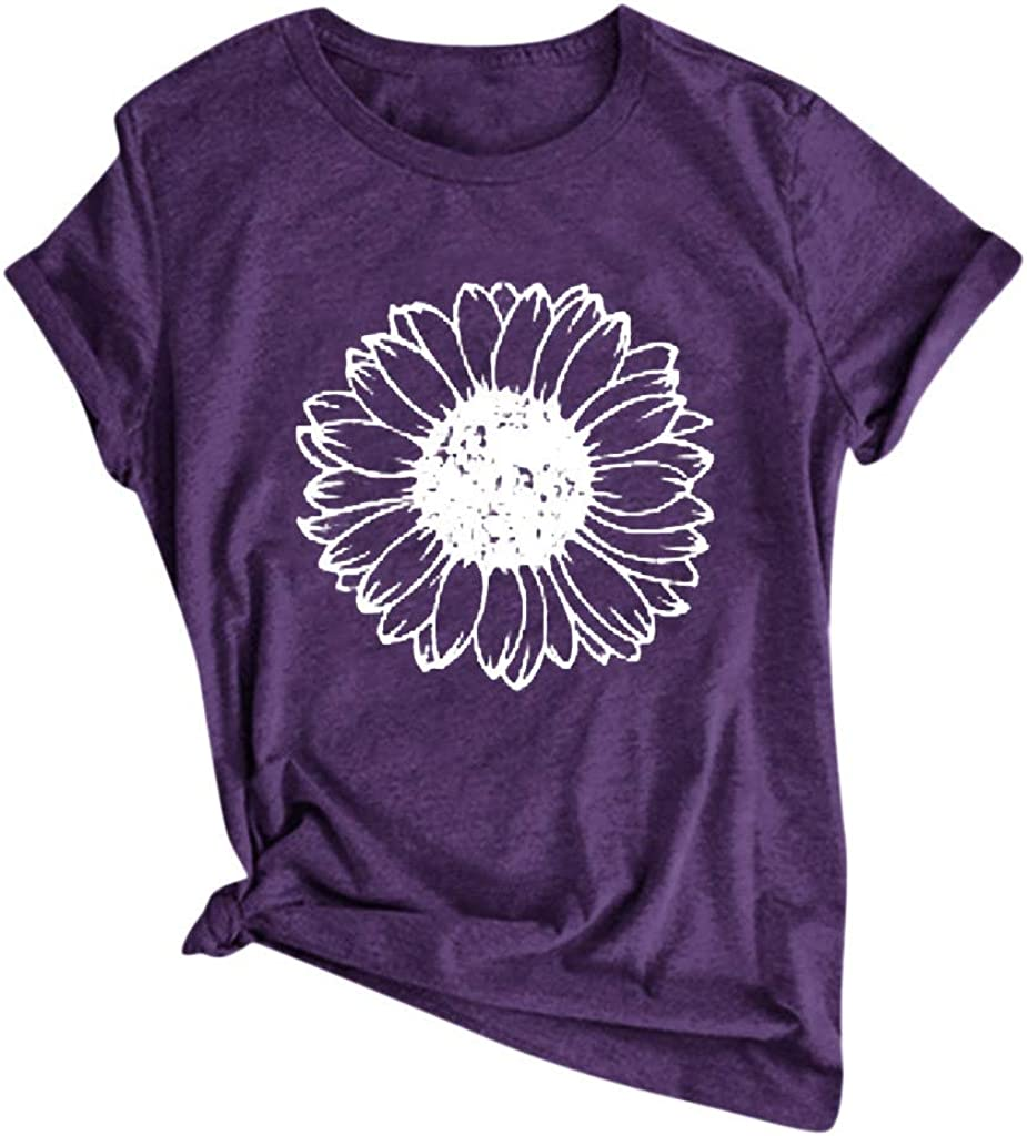 KYLEON Women T Shirts Casual Cute specialty shop Tees Print Tops Long-awaited Floral Summer