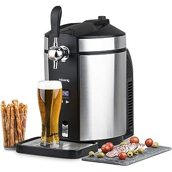 H.Koenig Tireuse à Bière BW1880 compatible avec les Fûts Universels non Pressurisés de 5L Inox, Machine, Pompe, Pression domestique, Professionnelle, Universelle, Refroidissement intégré 2 à 12 °C