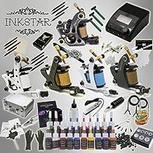 Inkstar Tattoo Kit Ace 5 Machine Gun TKI5CC20 + Needle + Power Supply + Inks + Case