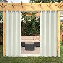 HGMart Outdoor Curtain Privacy Drape Grommets for Patio 50x96-UV Ray Protected Waterproof Fade Resistant and Mildew Resistant, Cream White