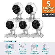 SNH-C6417BN - Samsung Wisenet SmartCam 1080p Full HD Plus Wi-Fi Camera Five Pack