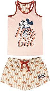 Cerdá - Pijama de Minnie Mouse - Camiseta + Pantalon de Algodón