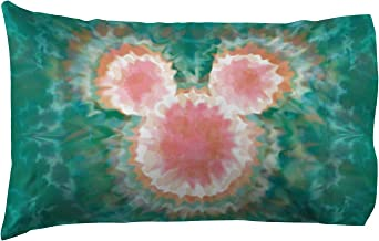 Jay Franco Disney Mickey Mouse & Minnie Mouse Tie Dye 1 Pack Pillowcase - Double-Sided Kids Super Soft Bedding (Official Disney Product)