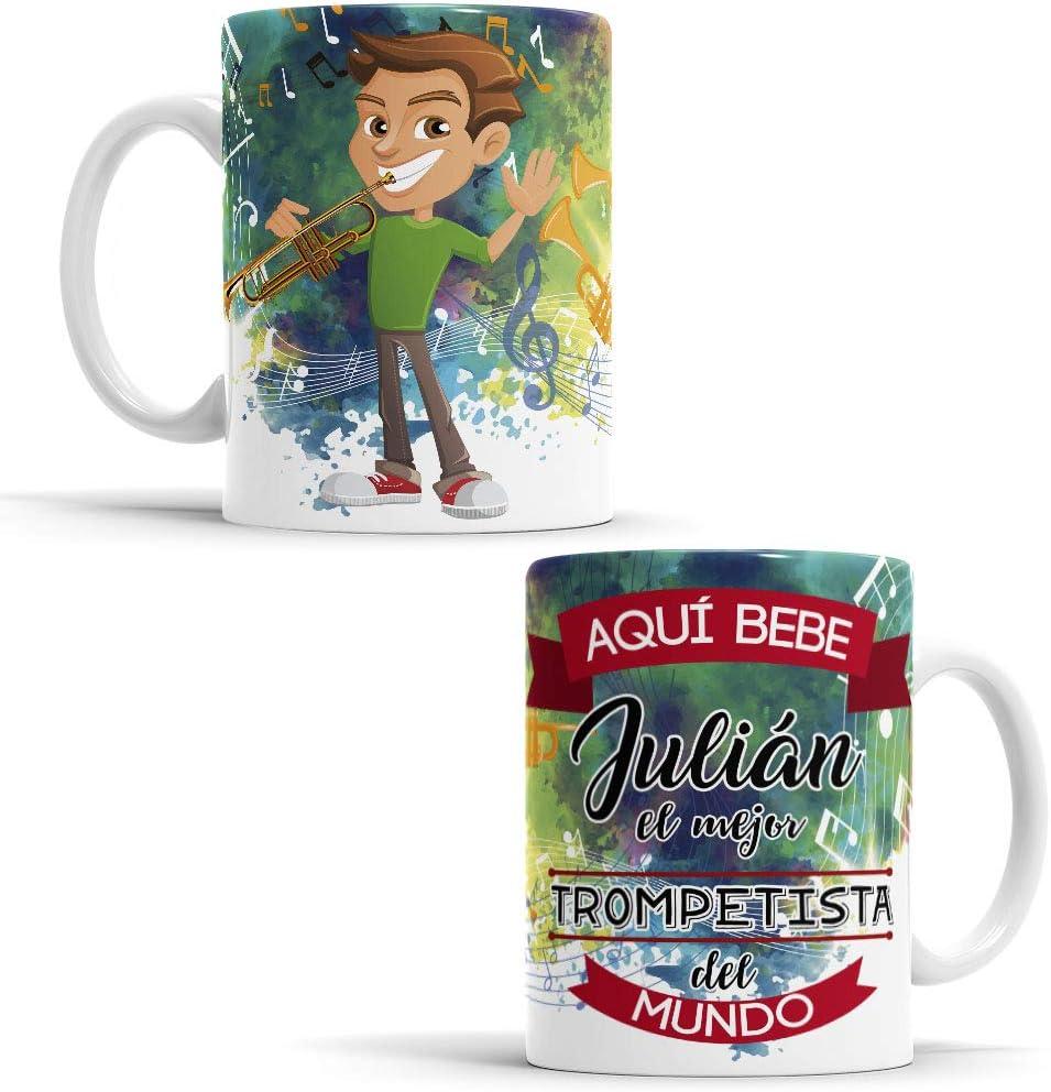 OyC Original y Creativo Taza para Buzo Buzo Taza Aqu/í Bebe el Mejor Buzo del Mundo Taza para Desayuno Taza con Frase y Dibujo Personalizada con Nombre