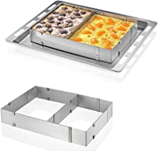 Hanperal Adjustable Square Stainless Steel Mousse Cake Square Cake Ring Bakeware Tool