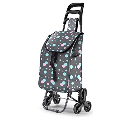 Summer Shopping Cart, Small Low-carbon Steel Trolley, Household Shopping Cart, Collapsible Lightweight The Elderly Hand Carts, 35 Kg Load (Color : #5)
