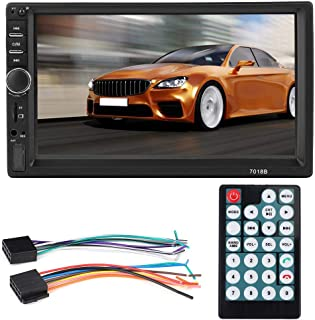 7in HD Touch Screen Stereo with Video Input Function, Car MP5, Bluetooth Music Playback Lossless Audio Formats USB MP4 Pla...