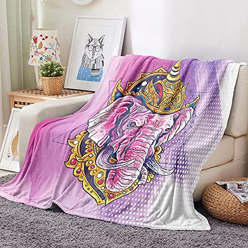 HKDGHTHJ Mantas para Sofa Baratas 200 X 200 cm Color Creatividad Elefante...