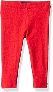 Baby Girls Solid Legging, Red, 12M