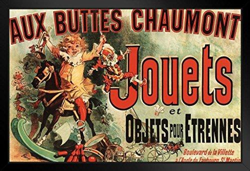 Aux Buttes Chaumont Jouets Jules Cheret Art Print Black Wood Framed Poster 14x20