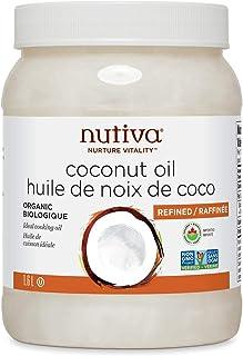 Nutiva Organic Steam-Refined Coconut Oil, 1.6 L | Non-GMO, Fair Trade | Vegan, Keto & Paleo | Neutral Flavor and Aroma for...