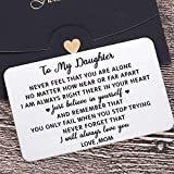 Mother To Daughter Wallet Card Inserts Christmas Valentine Gifts for step daughter from Mom Graduation Mothers Day 16 18th Birthday For Her Teen Adult Women Teenage Girls Inspirational Gifts