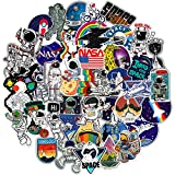 NASA Stickers for Laptop, Space Explorer Galaxy Vinyl Sticker for Water Bottle Hydro Flask Car Bumper Skateboard Luggage, Spaceman Spacecraft Universe Planet Graffiti Decals for Vsco Girl Boy, 50 Pack