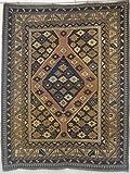 SK977 - Tappeto Fatto a Mano Antico SHIRVAN FINE'800' Cm.159 x 128 - Tappeti Persiani ed Orientali