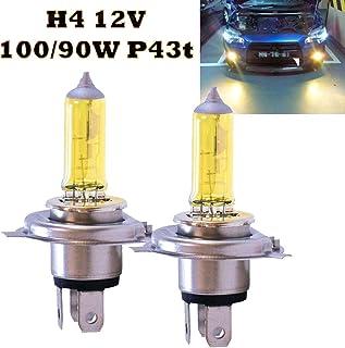 Jurmann Trade GmbH® 2x Lampen H4 12V 100W P43t Jurmann Aqua Vision Gelb