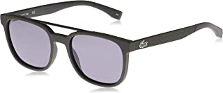 Lacoste Rectangular Sport Inspired Matte Khaki Sunglasses For Men 54-19-145mm