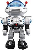 YARMOSHI Mando a Distancia Combate Robot Juguete - dispara Discos Luces Intermitentes Canta Bailes Reproduce música y Sonidos de Batalla Camina hacia Delante y hacia atrás Gira 360o.