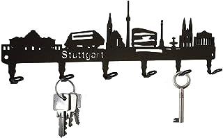 steelprint.de Schlüsselbrett/Hakenleiste * Skyline Stuttgar