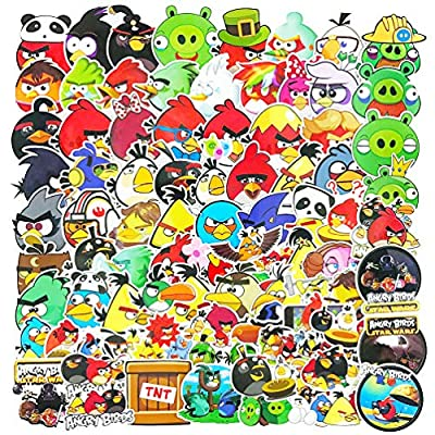 Angry Birds Game Cartoon Stickers Pack 100pcs for Kids Laptop Motorcycle Water Bottles Luggage Car Skateboard Stickers Decals