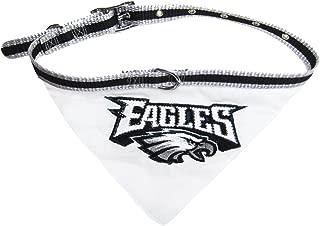 NFL BANDANA - PHILADELPHIA EAGLES PET BANDANA with Reflective & Adjustable PET COLLAR, Small