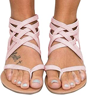 60e5013368e Amazon.com: Pink Gladiator Sandals